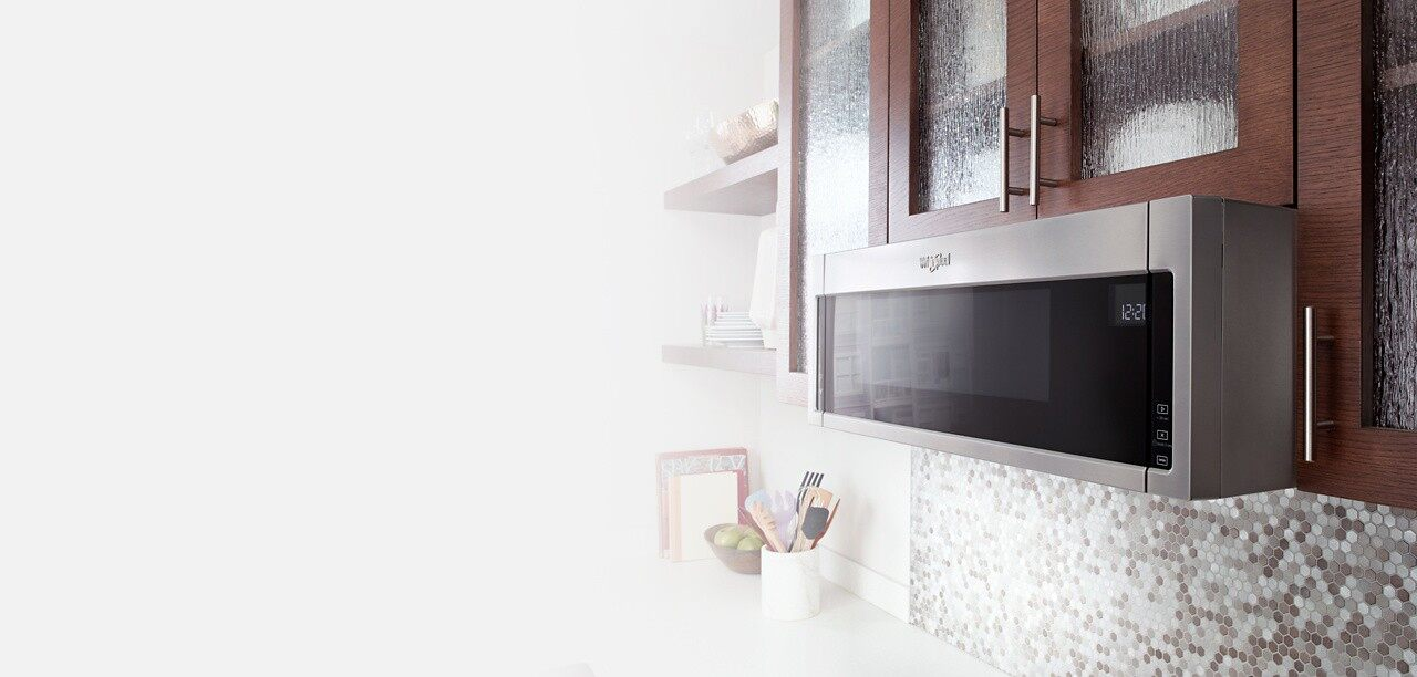 Fit your leftovers and more in the Low Profile Microwave Hood Combination from Whirlpool.