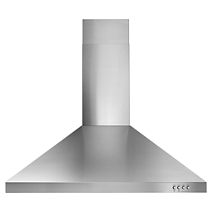 "Whirlpool® 30"" Contemporary Stainless Steel Wall Mount Range Hood"