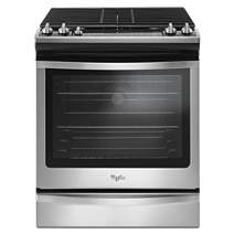 5.8 Cu. Ft. Front Control Gas Range with EZ-2-Lift™ hinged grates