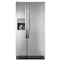 Whirlpool® 21 cu. ft. Side-by-Side Refrigerator with LED Lighting